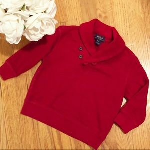 Ralph Lauren red toddler sweater